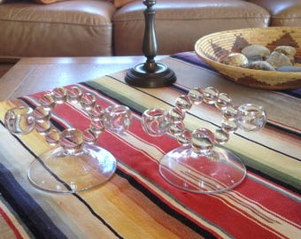 Pair Imperial Candlewick Double Candlesticks