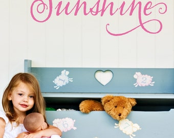You Are My Sunshine Decal - Boys Room Decals - Girls Room Decals - Vinyl Decals - Wall Decals - Nursery Vinyl - Decals - Decal
