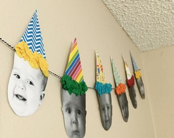 Custom Birthday Hat Face Banner