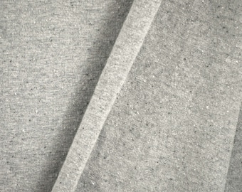 """JERSEY KNIT, Heather Gray, 52"""" Wide Fashion or Craft Fabric, Medium Wt Cotton Polyester Spandex, B25"""