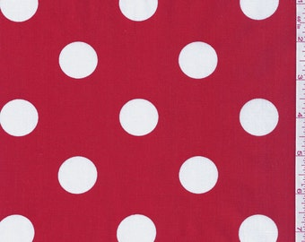 """60"""" Red  and White Dot Fabric-15 Yards Wholesale By the Bolt (FP625)"""