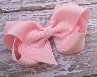 Baby pink hair bow - hair bows, boutique bows, girls hair bows, girls bows, big hair bows, boutique hair bows, bows, hair bows for girls