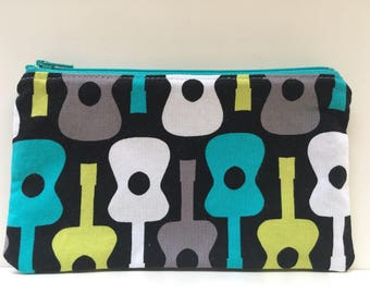 Reusable Snack Bag, Kid Snack Bag, Guitar