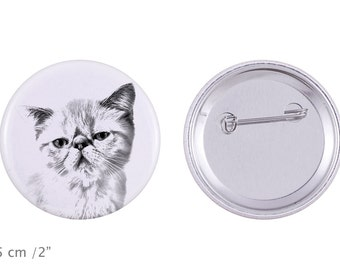 Buttons with a cat - Exotic Shorthair