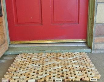 """Wine Cork Doormat 20""""x30"""""""