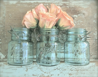 "Rose Art Print, Fine Art Photography, French Country Art, Romantic Chic Shabby Rustic, Farmhouse Print, Country Kitchen- ""Peach Blossoms"""