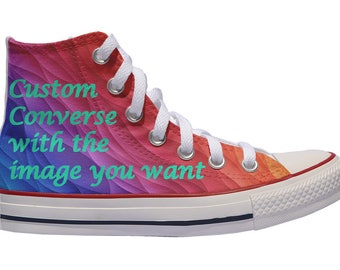 Custom shoes Converse sneakers with the image you want birthday painted personalized gift canvas