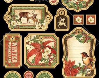 Graphic 45-Winter Wonderland Chipboard Embellishments
