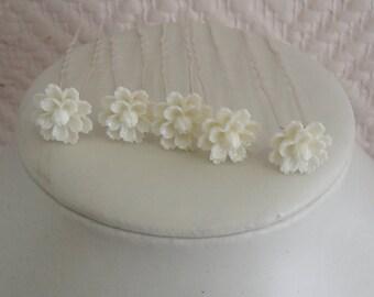 Bridal flower hair stick.