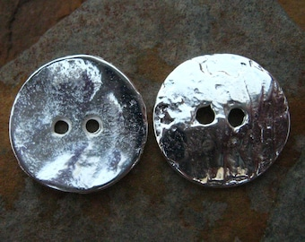 4 Greek Casting Silver Cornflake 16mm Button Beads