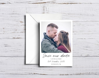 Magnetic Chic Personalised Save The Date Polaroid Printed Instant Photo & Envelopes