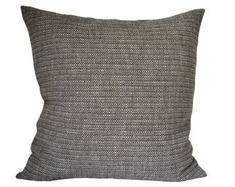 Brown pillow-cover, brown and white furnishing fabric w structure, 50x50 cm/ 19,7x19,7 inch, for decorative pillow