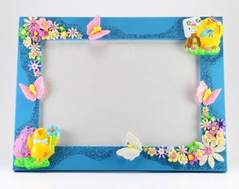 Picture Frame for Easter, Easter Gift Ideas, Easter Home Decor, Easter Chick, First Easter, Easter Picture Frame, Easter Kids Gifts