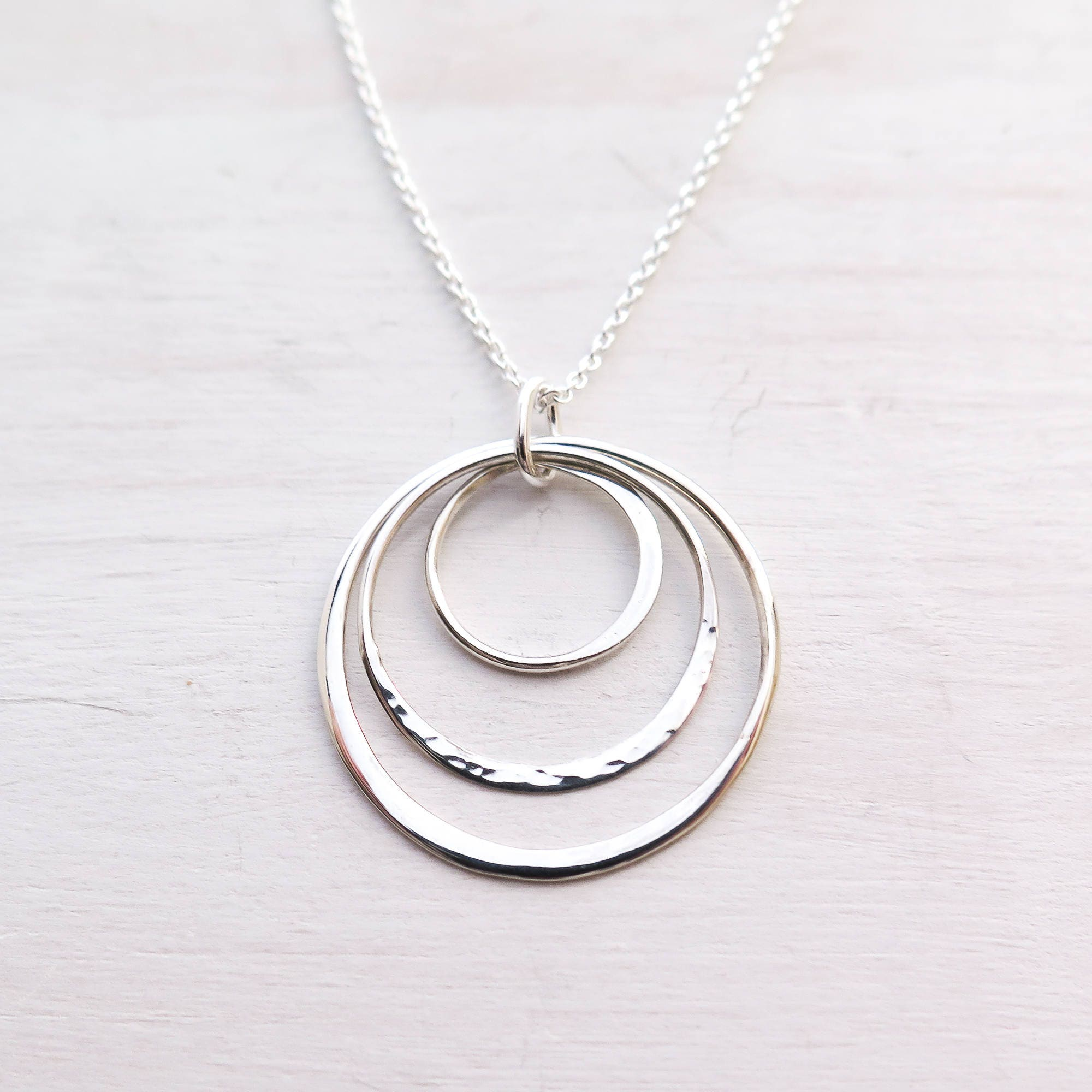circle necklace ring silver triple oyo jewellery oliver bonas