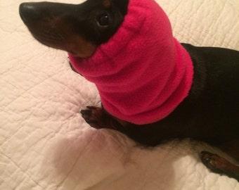 Dog Fleece Snood Dark Pink Fabric comes in Small, Medium, Large & Xlarge FREE SHIPPING