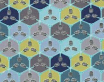 SALE : Bee My Honey Mary Jane Honeydipper blue moda Fabrics FQ or more
