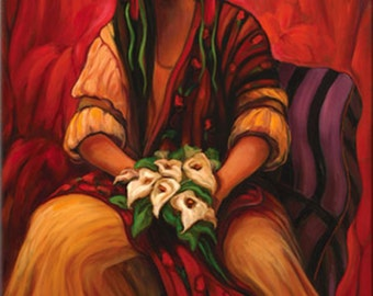"""Maria Sharylen, """"Mexicali Bride"""" Stretched Canvas Giclee' Reproduction"""