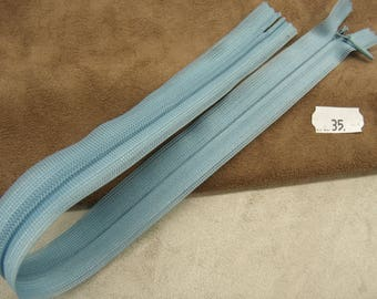 Invisible zipper 35 cm - sky blue