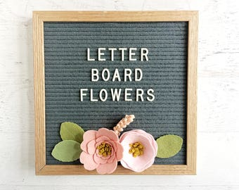 NEW Felt Letter Board Flowers - Add-ons for Felt Letter Boards - Decor for Photo Props, Parties, Showers and Every Day - Blush / Peony