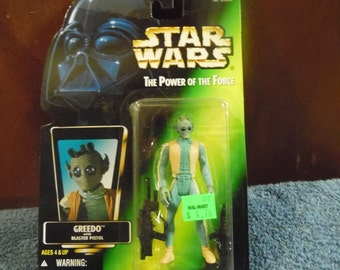 Star Wars Power of the Force Greedo 1990's Kenner