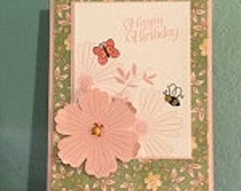 Happy Bee Birthday Greeting Card