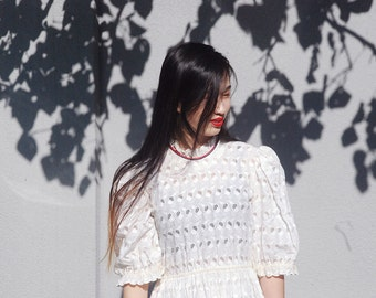 Gucci inspired / White Lace Dress