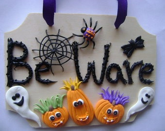 Halloween Door Sign. Kids Door Sign. Halloween Decoration. Ready to Ship