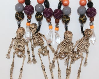 Halloween Skeleton Table Cloth Weights Set of 4 or Ornaments