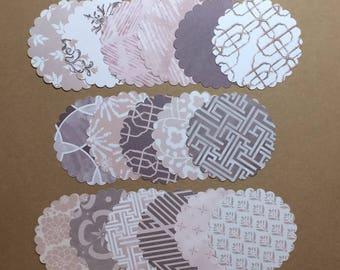 "50 - 2 1/2"" Scalloped Circles Assorted Prints  Set S2"