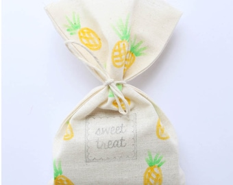 Pineapple Party Favour Bags - Pineapple, tutti frutti, tropical party, summer x 10