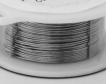 18GA Beadsmith Brushed Silver Color Non Tarnish  Wire 4 Yards