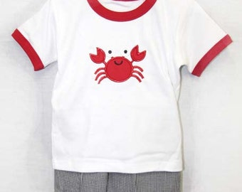 Crab Shorts Outfits | Baby Boy Clothes | Crab Outfit for Toddlers | Toddler Boy Shorts | Crab Outfit Babies | Toddler Boy Outfits  291391