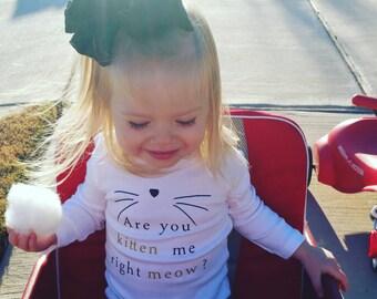 Are you kitten me - Meow Shirt - Cat Shirt - Kitten Shirt - Cat lover - Animals - Adult Cat Shirt - Cats - Meow - Kitten Shirt