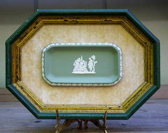 Framed Wedgwood Japerware Tray Sage