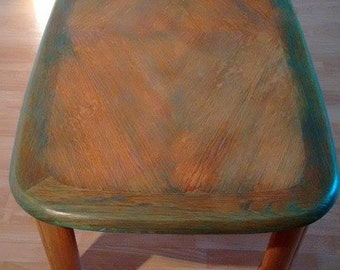 Beautiful artistically restored coffee table