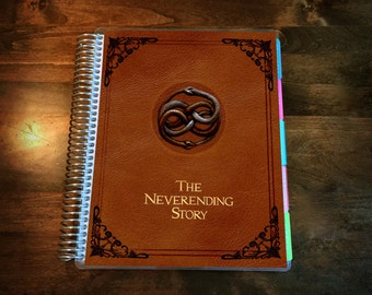 Neverending Story Laminated Planner Cover for your Erin Condren Life Planner, Plum Paper Planner, or Happy Planner