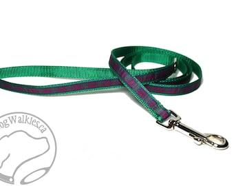 "Matching Plaid Dog Leash for 1/2"" (12mm) Wide - Tartan - Thin Tartan Lead - Light Leash - Small Dog Leash - 4, 5 or 6 ft (1.2, 1.5 or 1.8m)"