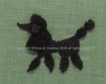 Stumpwork Embroidery - Poodle (Anthony)