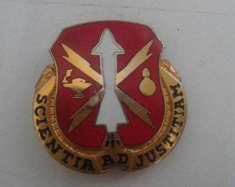 Spring Sale Vintage Vietnam War era Missile School Redstone Unit Crest Insignia