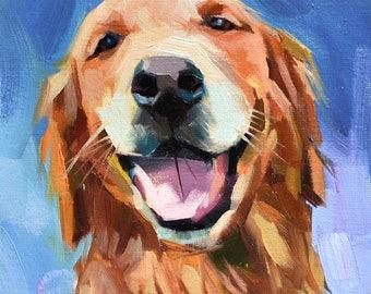 Custom Dog Oil Painting, Custom Pet Portraits, Animal Painting, Original Art