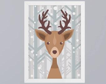 Deer - unframed art print