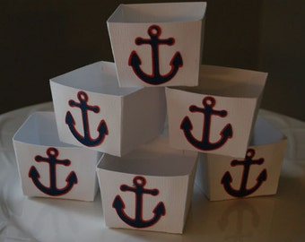 Candy Cups, Nut Cups, Dessert Cups, Shower Favors, Wedding Favors, Birthday Favors, Nautical Theme,  12 Pcs