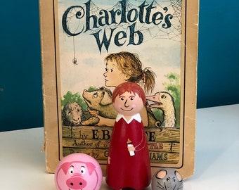 Charlotte's Web Peg Doll Set