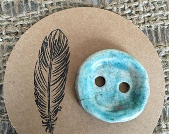 Large button raku pottery to customize your creations