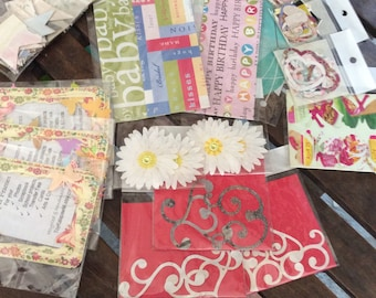 Lot of 12 destash random packs 4 dollar paper scrapbook craft supplies