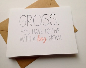 Funny Engagement Card / Humor Wedding Card / Moving In Card / Card for Couple / Congratulations Card