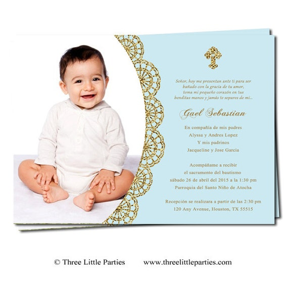 Spanish or english baptism invitation printable invitacion stopboris Gallery