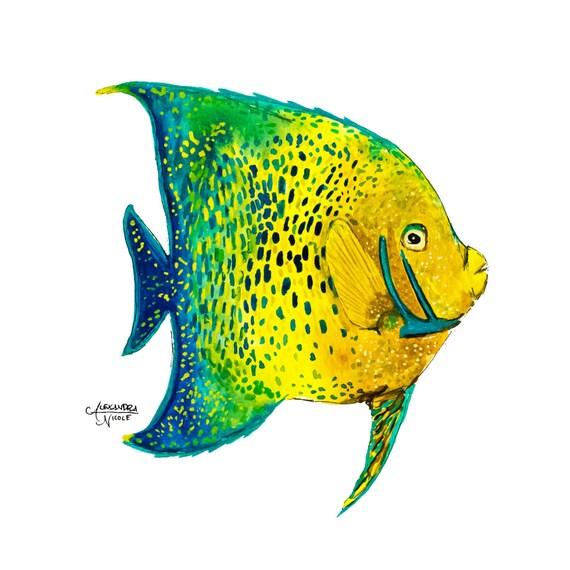 Fish Wall Art Fish Painting Fish Print Angel Fish Koran