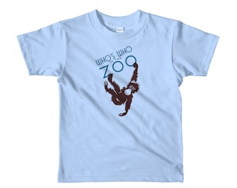 Who's Who in the Zoo Monkey Short Sleeve Kids T-Shirt