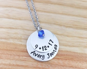 mom necklace birthstone, mom necklace with kids names, mothers day gift, mothers necklace, first time mom gift, personalized necklace